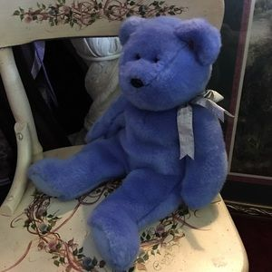 Retired, TY Buddy Bear, Blue, 14in